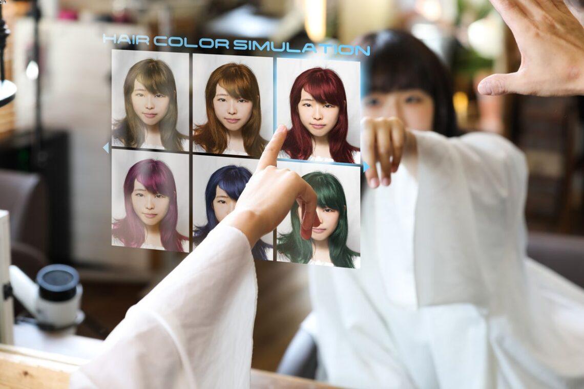 Relooking virtuel coiffure en ligne