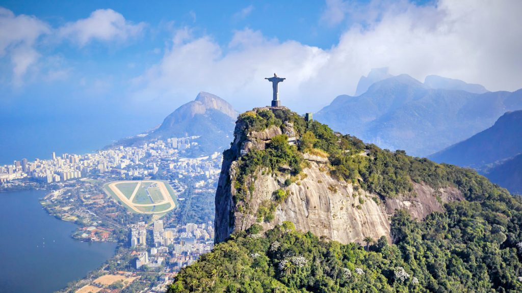 Vue globale de Rio de Janeiro au Brésil